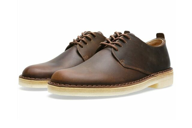 94b2836d Clarks Original Mens Shoes Desert London Beeswax Leather Lace up 26107880  9.5