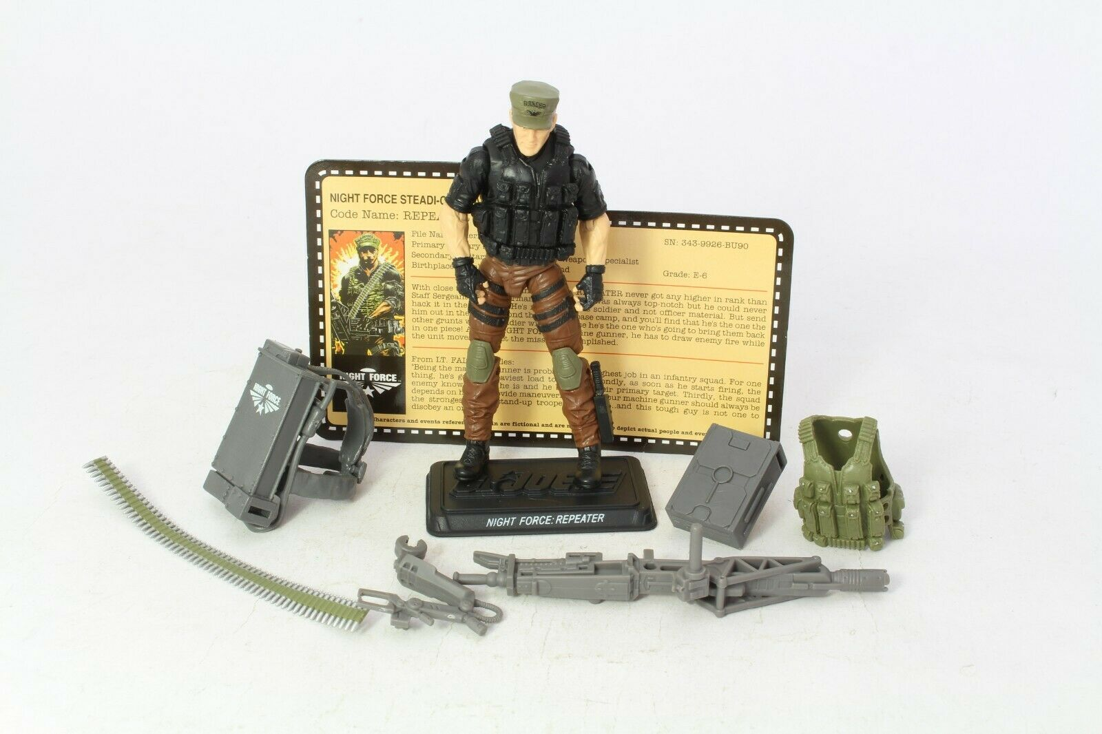 GI Joe Night Force Repeater 2013 Convention Exc 25th Anniversary Action Figure