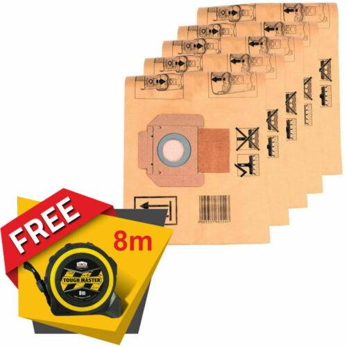Gratuit Ruban Mesure 8M//26ft MAKITA P-70194 Dust collection sacs pour 446 L 5 pcs