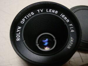 Rolyn-Optics-034-C-034-Mount-TV-lens-f1-4-16mm-NEW