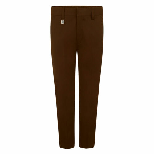 Boys Standard Fit Trouser Half Elastic Tailored Waist School Wear Formal Uniform