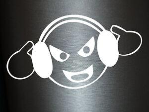 Detalles De 1 X 2 Plott Pegatinas Too Loud Cara Sonriente Con El Ruido Bass Club Discoteca Dj Sticker Shocker Ver Título Original