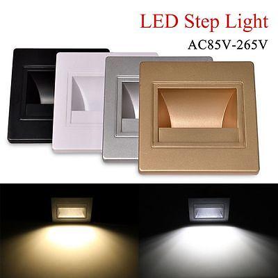 LED Recessed Spotlight Ceiling Light Lamp 5w Square Warm White 10-er Set