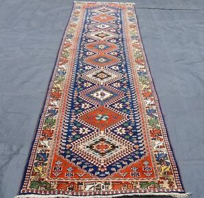 Orient Nomaden Teppich handgeknüpfter Perser Teppich Galerie Läufer 350x080 cm