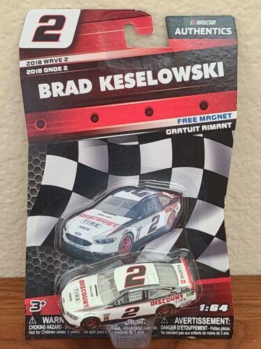 2018 Wave 2 Brad Keselowski Discount Tire 1//64 NASCAR Authentics Diecast