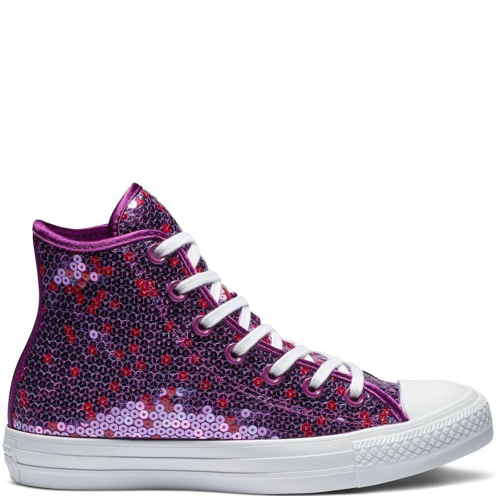 Converse CTAS HI 562445C Icon purple Womens UK 3-8