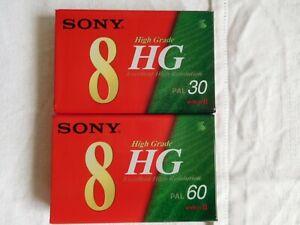 cassettes vidéo 8 neuves - lot de 4 - (voir description complète)
