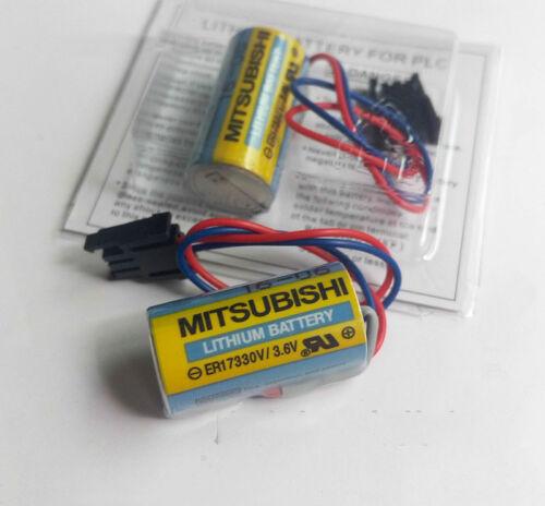 Stecker 4Pcs Mitsubishi PLC Akku A6BAT ER17330V Größe 2//3A 3,6V Li-Ion Akku