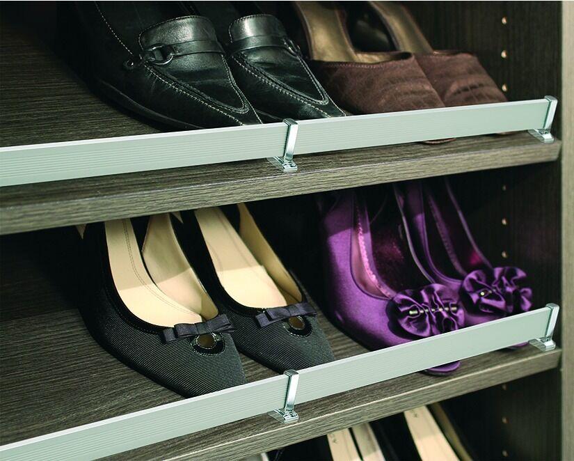 Schuhe Storage Häfele wand-schuhhalter for Schuhe Shelf 899mm schuh-reling Aluminum