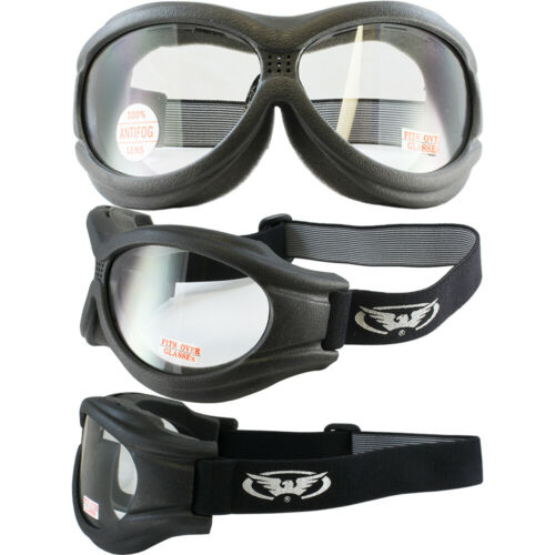 3 Pair Fit Over Foam Padded Shatterproof Anti-Fog Motorcycle Goggles Big Ben
