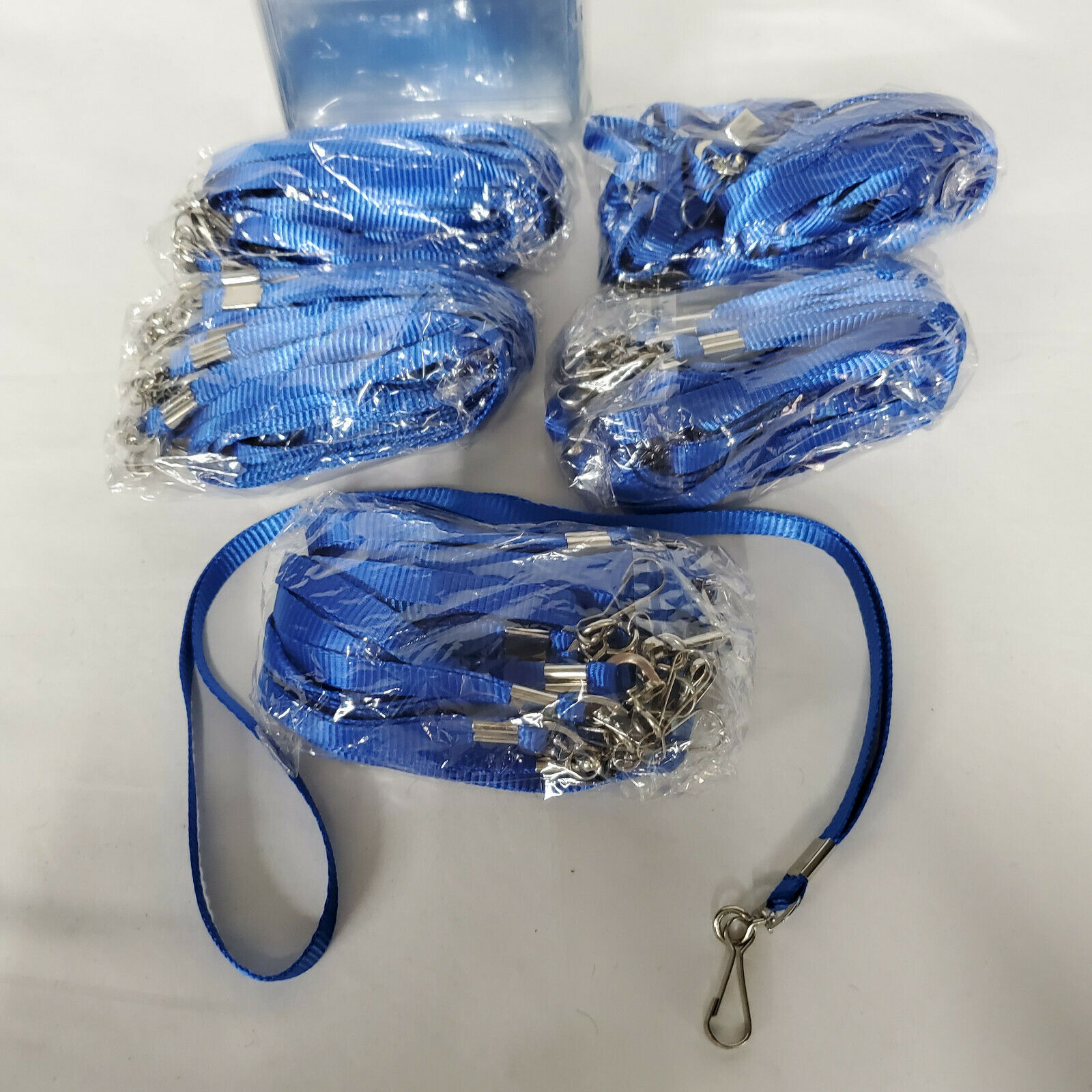 50 Pack Lanyard Badge Lanyards and ID Name Tags Holders Blue