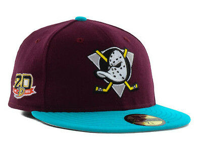 Official NHL 2013 2014 Anaheim Mighty Ducks 20th Anniversary New Era Fitted Hat