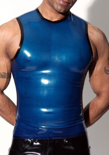 MENS RUBBER SLEEVELESS T SHIRT