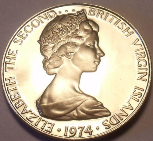 Cameo Proof British Virgin Islands 1974 25 Cents~Mangrove Cuckoo~Free Shipping