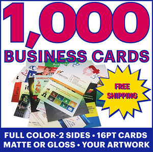 Image Is Loading 1000 Full Color Business Cards W Your Artwork