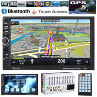 """GPS 7"""" HD 2 DIN In Dash Bluetooth Touch Car Stereo Radio MP5 Player USB/TF/AUX"""