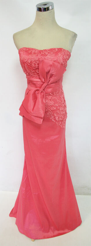 NWT DAISY  SALMON Juniors Evening Formal Prom Gown S
