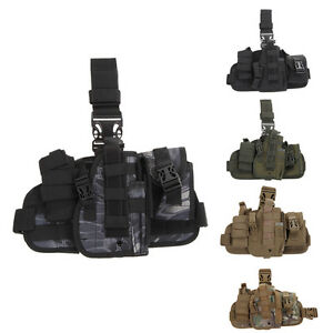 Nylon-Molle-Quick-Detach-Drop-Leg-Holster-with-MOLLE-Debris-Pouch-Bag-Holder