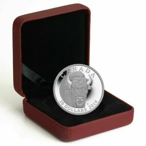 2014-Canada-20-1-oz-Pure-Silver-Coin-The-Bison-with-Box-and-COA