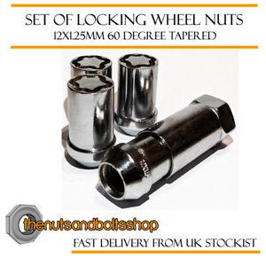 Locking Wheel Nuts 12x1.25 Bolts Chrome Tuner Subaru Forester STi Mk2 04-07