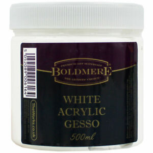 White Acrylic Gesso - 500ml, Art & Craft, Brand New
