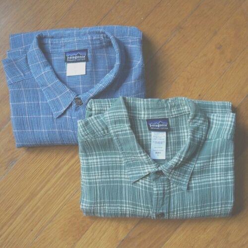 PATAGONIA Men's Seersucker Shirts 2 Organic Cotton