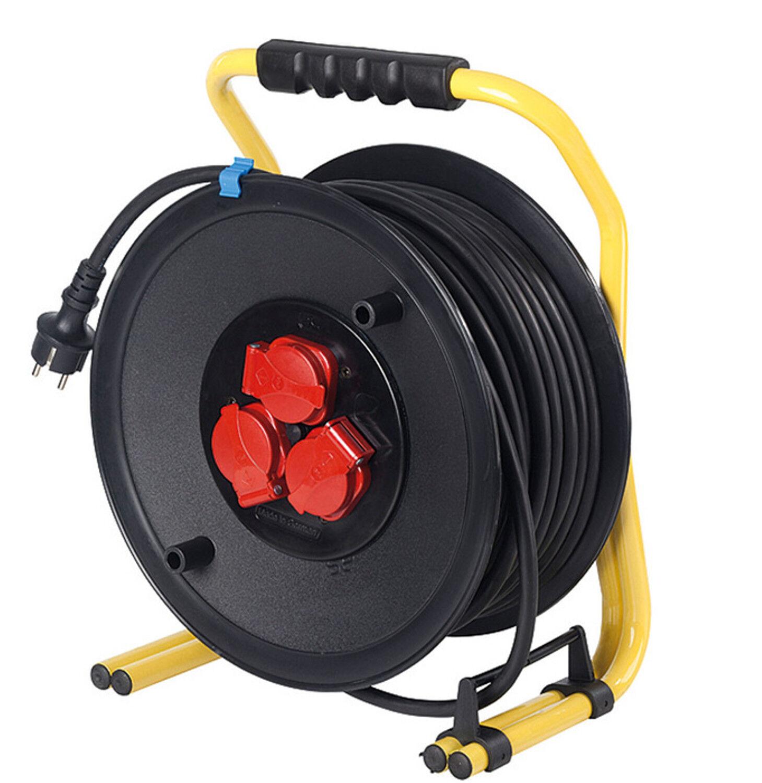 AS Schwabe Profi-Kabeltrommel 285mm Durchmesser Kunststoff 40m Leitung Neuware
