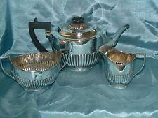 Stunning Antique Silver Plated Tea Set William Hutton Sheffield - Half Reeded!!