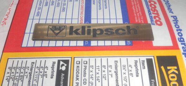 1 Plastic Speaker Badge Part Klipsch Logo Grille Emblem Gold Color Nameplate Maar Toch Niet Vulgair