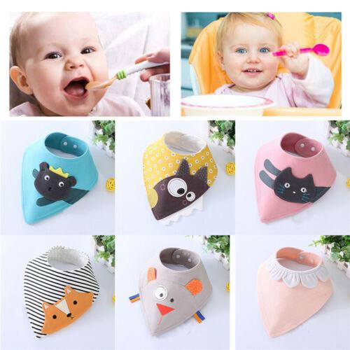 Cotton Cartoon Animal Towel Baby Triangle Bandana Bibs Infant Saliva Towel 32