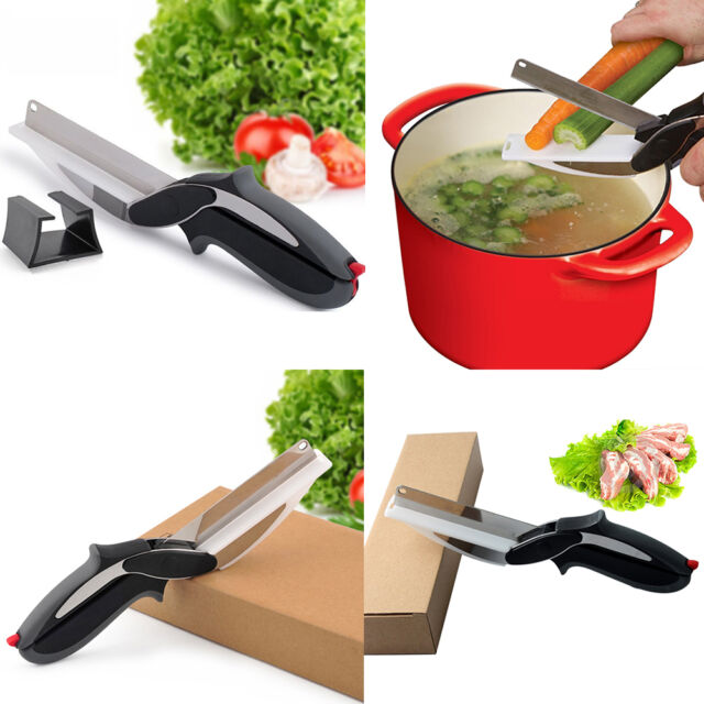 Multifunctional Knife 2-in-1 Cutting Board Vegetables Scissors New