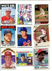 Details About Tom Seaver Mets Reds Whitesox Redsox 20 Baseball Card Lot