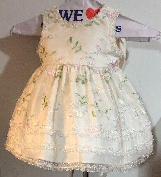 Flower Baby Girl 18m Ivory Flower Girl Dress by American Princess Formalwear