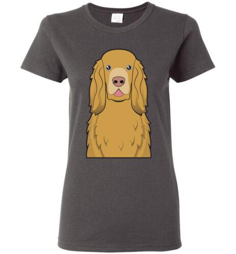 Men Women Youth Kids Tank Long Sleeve Sussex Spaniel Dog Cartoon T-Shirt Tee