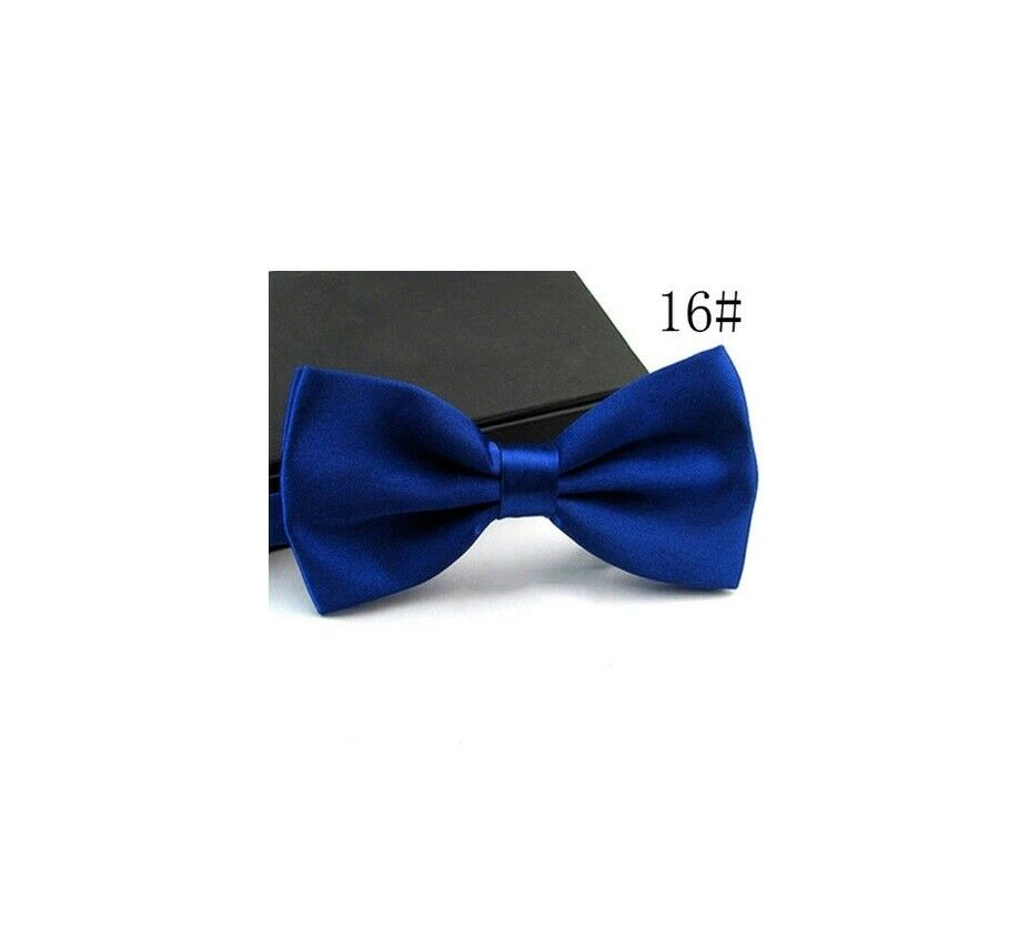 Hand Made Royal Blue Mens Bow Tie Pre Tied wedding Prom adjustable Dickie Bow