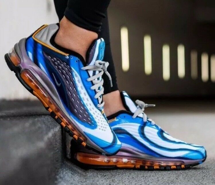 NWT Nike Air Max Deluxe OG Running shoes -    bluee & Grey - AJ7831-401 - Mens-6.5 4c7ea4