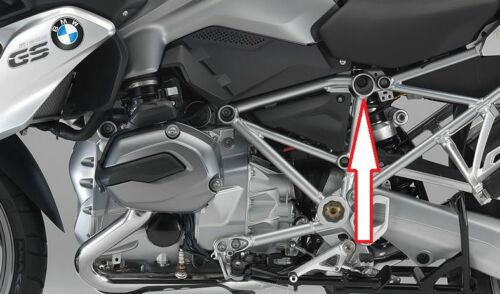 9 Rahmenabdeckung Abdeckung  BMW R 1200 GS LC Rahmen Rohr Stopfen Verschluss