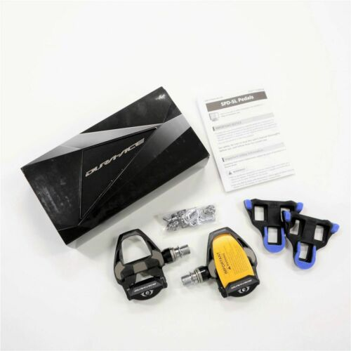 4mm Long Spindle Carbon Road SPD SL Cycling Pedals Shimano Dura Ace PD-R9100