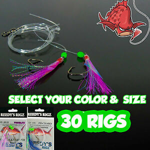 30-Snapper-Rig-Tied-Rigs-Size-5-hook-Lure-Flasher-60lb-Hand-tied-Fishing-Bait
