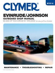 clymer evinrude johnson outboard shop repair manual 85. Black Bedroom Furniture Sets. Home Design Ideas
