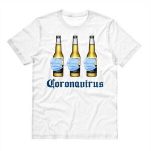 Funny Virus Beer Pandemic Quarantine Drinking T-Shirt Tee Shirt Unisex