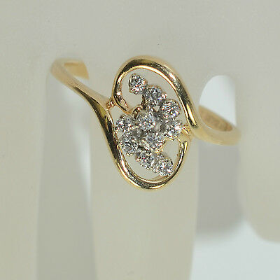 14k Diamond Cluster Ring Zales Ebay