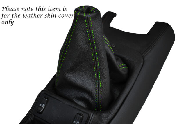GREEN STITCHING LEATHER GEAR GAITER FITS FORD SIERRA RS COSWORTH MK1