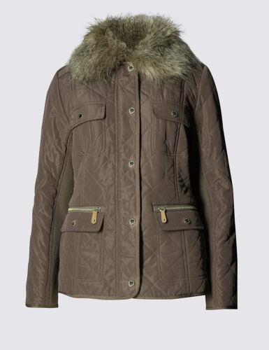por Borg Uk 8 s 10 topo una chaqueta M Nuevo Sz con de Stormwear acolchada 4f8qER