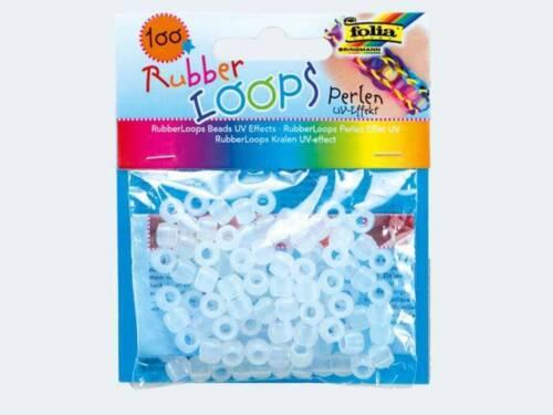 Rubber Loops 100 Perlen UV Effekt 6-f 33902