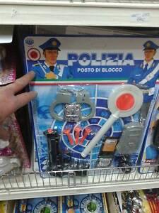 Dettagli su 1 pistola manette polizia militare kit gioco di qualità giocattolo toy