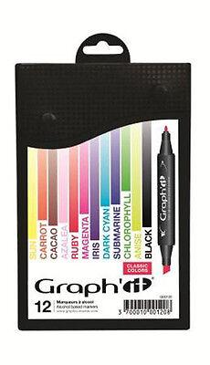 Graph It Marker Pen Set - 12 Colour Box - Classic