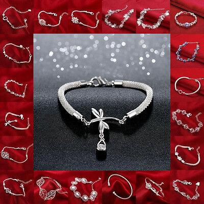 NEW!! Wholesale New Fashion Jewellery Women Mens Solid925 Silver Bracelet/bangle