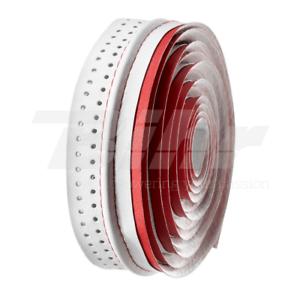 35498 Tape Handlebar Veil vlt-041 Microfiber Perforated 3d Bicolor Red//White