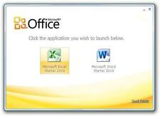 MICROSOFT OFFICE 2010 STARTER DVD WORD EXCEL HOME & STUDENT WINDOWS 7 8 10